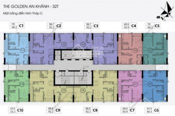 Cần bán gấp tầng 1203 DT 92.2m2, 3PN CC Golden An Khánh, giá cắt lỗ sâu 1,7 tỷ, full NT 0901751599