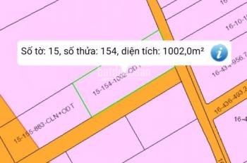 Bán đất ở Tam Phước, Dt 1002m2, giá 6 tỷ, thổ cư, 2 mặt tiền đường Bắc Sơn - Long Thành có 50m