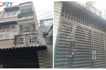 Bán nhà hẻm xe hơi, Gò Dầu, Q.Tân Phú, nhà nở hậu, sổ hồng riêng. 1 trệt 2 lầu, 4 PN
