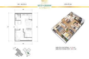 Chính chủ bán căn HR1A2108 đẹp nhất Eco Green 0374656000