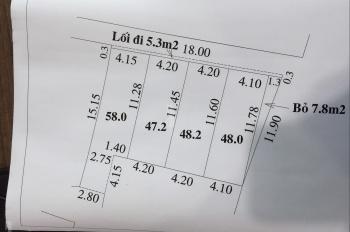 Dành cho ace công nhân giá rẻ, bán nốt 2 lô đất phân lô trong 4 lô tại ngõ 2 - Tằng My - Nam Hồng