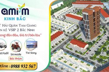 Bán lô 100m2 đối diện công viên cây xanh dự án KĐT Hải Quân Tam Giang liền kề Vsip2 Yên Phong