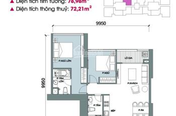 Bán cắt lỗ sâu căn hộ 2PN tòa M2 Vinhomes Metropolis, 80m2, view hồ tây, giá 5 tỷ. LH 0988 942 995