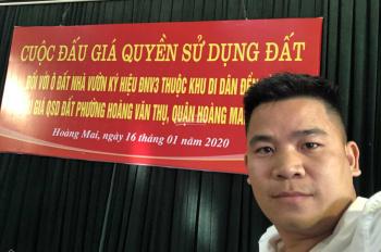 Bán đất đấu giá Đền Lừ 3 phường Hoàng Văn Thụ quận Hoàng Mai thành phố Hà Nội.  LH 0971528889