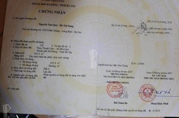 Bán mảnh đất Thanh Lãm, 32m2 mặt tiền 4m giá 1,2tỷ. LH: 0944.22.44.89