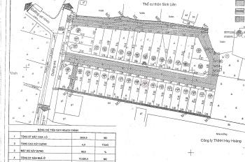 Bán đất đấu giá lô đất LK10 - Khu Sinh Liên - Bình Minh - Thanh Oai - Hà Nội - 75m2 - 11,5 tr/m2