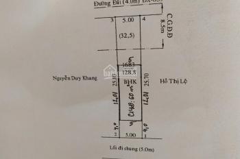 Đất MT DX 059 Phú Mỹ chỉ cách chợ và trường học có 200m DT 5x26m thổ cư 60m2, đường nhựa 6m thông