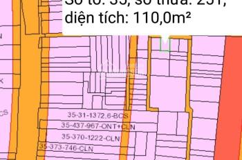 Cần bán lô đất 110m2 có 65m2 thổ cư, đường xe hơi 1/ Trần Văn Trà, xã Phú Đông