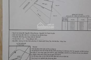 Bán đất mặt tiền đường ven Biển phường 12 Vũng Tàu