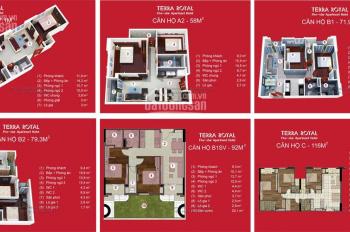 Bán căn hộ Terra Royal 71.4m2 tầng đẹp view thoáng có video thực tế gửi khách thiện chí mua xem