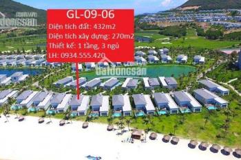 TÔI SƠN CHÍNH CHỦ CẦN BÁN BT VINPEARL GOLF LAND NHA TRANG: GL - 09 - 06 MẶT BIỂN - 0934.555.420