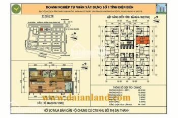 Chính chủ cần bán gấp căn hộ chung cư 2234 CT8A (66.12 m2) khu đô thị Đại Thanh. 0865.355.345