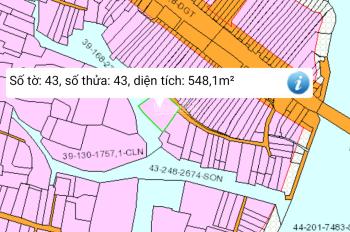 Cần bán lô đất 548m2 có 200m thổ .1 mặt đường xe hơi 1 mặt sông lớn xã Đại phứớc LH :0988880987