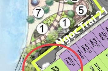 Tôi cần bán căn NT21-23 căn đơn lập góc đẹp nhất phân khu Ngọc Trai view khuôn viên 1000m2