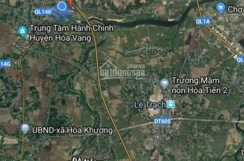 Bán đất diện tích lớn đoạn cầu đỏ Túy Loan, giá 1.05 tỷ, DT: 150m2