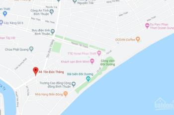 Bán lô đất thổ cư tại Phan Thiết, đường Tôn Đức Thắng, ngay trung tâm thành phố