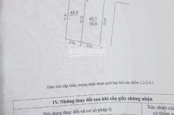 Bán đất 2 mặt thoáng thôn Đông - Việt Hùng - Đông anh - HN DT: 70m2, nở hậu rộng 5.38m, dài 13.23m