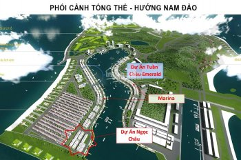 Đất nền sổ đỏ chính chủ không xây mặt cảng mới Tuần Châu, mặt tiền 6-8m, DT 108 - 160m2. Từ 42tr/m2