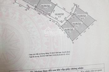 Nhà ngõ Hồ Ba Mẫu, Đống Đa, Hà Nội, DT 32 m2x 5tầng, giá 2.95 tỷ