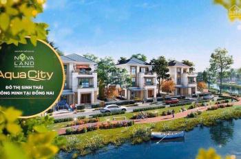 Lộc đầu năm tặng ngay 40 chỉ vàng với nhà phố 6x20m, khu đô thị thông minh Aqua City, 0909885504