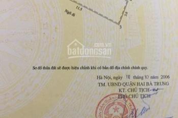 Hiếm, mặt Phố Vọng, Hai Bà Trưng, thuê kinh doanh 44,522 triệu/tháng, giá 11.5 tỷ, 0386 686 768
