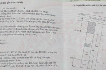 Đất mặt tiền Nguyễn Văn Bứa 10 - 50m, thổ cư giá 10,5 tỷ