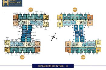 Bán căn hộ chung cư Hà Nội Homeland, căn 803, 65.73m2 và căn 1112, 69m2, giá: 22tr/m2, 0986854978