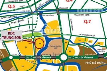 Bán 5 lô đất KDC Trung Sơn, Bình Hưng, Bình Chánh. Giá chỉ 1,6tỷ/nền, XDTD SHR LH 0706331257
