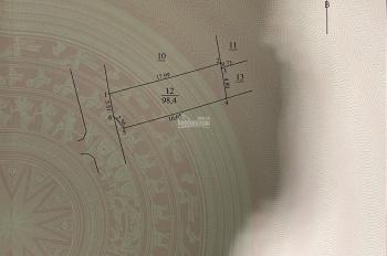 Bán đất Lâm Hạ 100m2, mặt tiền 5,8m, đường oto tránh nhau