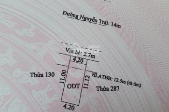 Bán nhà 1 trệt 4 lầu mặt tiền Nguyễn Trãi, Lái Thiêu, kinh doanh vip