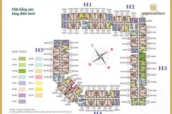 Cho thuê căn hộ chung cư Hope Residence tầng 12 DT 69.19m2, tủ bếp giá thuê 5,5tr/th. LH 0979449965