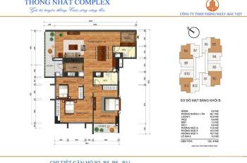 Bán gấp căn góc 3PN 122m2 Thống Nhất Complex - giá rẻ nhất thị trường