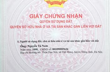 Chính chủ bán 405m2 tại xóm Nhì, Vân Nội, Đông Anh với giá đầu tư. LHCC: 0985.486.682