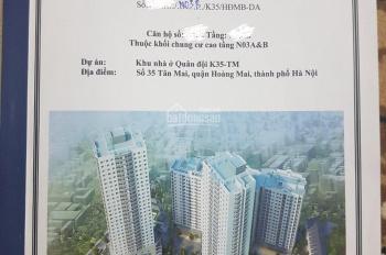 Bán suất ngoại giao 2 - 3 PN giá rẻ dự án K35 Tân Mai, vay NH 70%, nhận nhà ngay. LH 0982 726 226