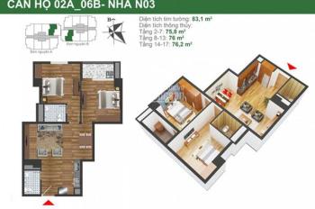 Bán căn 2PN 76m2 dự án K35 Tân Mai, nhận nhà ngay, vay NH 70% giá hợp lý, LH 0982 726 226