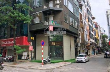Bán nhà mặt phố Lạc Chính, mặt hồ Trúc Bạch, mặt tiền 10m. Giấy phép 9 tầng + hầm, giá 51 tỷ