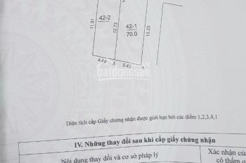 Bán đất 2 mặt thoáng thôn Đông - Việt Hùng - Đông Anh - HN, DT: 70m2, nở hậu rộng 5.38m dài 13.23m