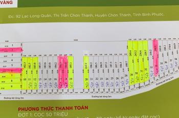 Bán đất giá rẻ tại thị trấn Chơn Thành, Bình Phước, giá 490tr