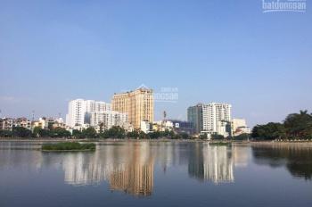 Bán gấp mảnh đất mặt hồ Hoàng Cầu, 100m2, MT 5,5m, nở hậu