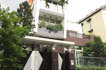Cho thuê biệt thự Nguyễn Hoàng 8 x 20m, trệt 3 lầu 5 phòng giá 50 triệu