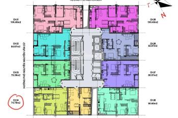 Chính chủ bán căn góc 74,75m2 tầng trung siêu hot, LH: 0968251095