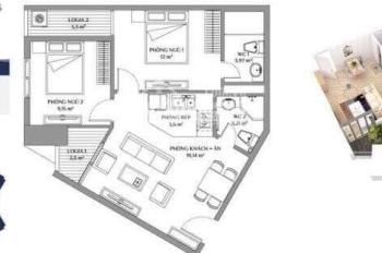Bán căn 2 phòng ngủ, 1.65 tỷ tại dự án Samsora, cạnh Bưu điện Hà Đông, LH 0916256278