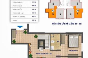 Cần tiền bán rẻ căn hộ 83m2 CT2 Nam Xa la, 1.05 tỷ