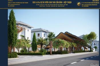 Bán đất phân lô khu sinh thái Cẩm Đình, Hiệp Thuận, giá tốt dành cho khách đầu tư