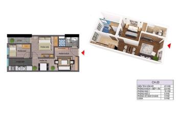 Duy nhất 1 suất kí luôn HĐMB căn 47m2 tòa NO5 Ecohome 3. LH 0988563234