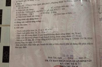 Bán đất mặt tiền ở Bình Tân rộng 1163m2 cho người thiện chí