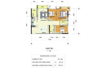 Celadon City-bán giá tốt căn 3PN, 104m2, Emerald, tầng 10, căn góc, view TB, cửa ĐN - 08.9889.7282
