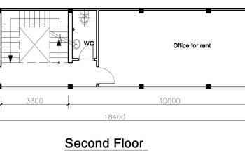Cho thuê mặt bằng (nguyên sàn lầu 2, thang bộ), DT 72m2, khu trung tâm Quân 1, tiện làm văn phòng