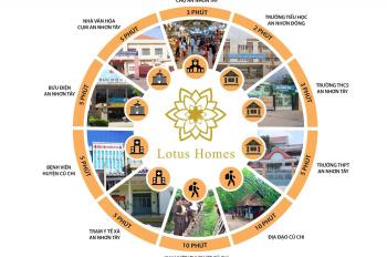 Chỉ cần TT 395 triệu/nền sở hữu đất nền KDC Lotus Homes Củ Chi, diện tích 5x16m