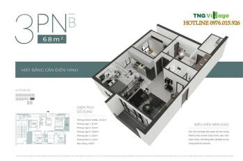 Căn góc 2 mặt thoáng - 3 PN 68m2 CC TNG Village Minh Cầu giá chỉ 1,08 tỷ - nhận nhà ở ngay